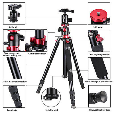 Neewer Camera Tripod Monopod with Ball Head for DSLR Camera Video Camcorder 3