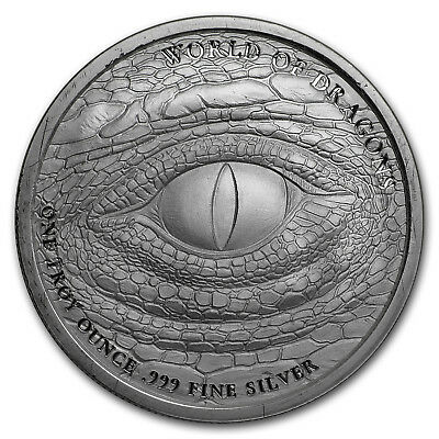 1 oz Silver Round - World of Dragons (The Aztec) - SKU#178949 2
