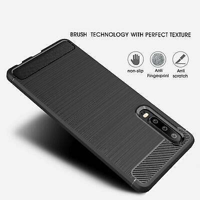 For Huawei P30 / Pro Lite - Carbon Fibre TPU Armour Cover Heavy Duty Hybrid Case 5