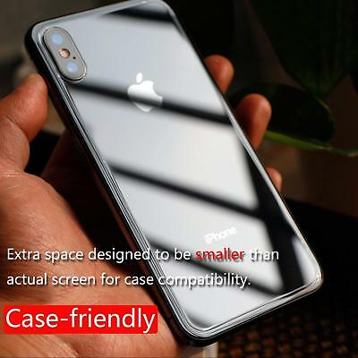 Back Rear Tempered Glass Screen Protector Apple iPhone X XS XS Max XR 7 8 Plus 4