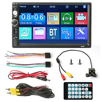 """🔥Car Stereo Radio 2 DIN 7"""" HD MP5 FM Player Full Touch Screen+Free Rear Camera 12"""