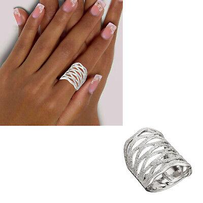 Breiter Damen Ring 925 echt Silber Muster ohne Steine große Größen 50-64 neu