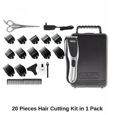 Wahl Cordless Rechargeable Hair Clipper Shaver Trimmer Grooming Clippers Set 12