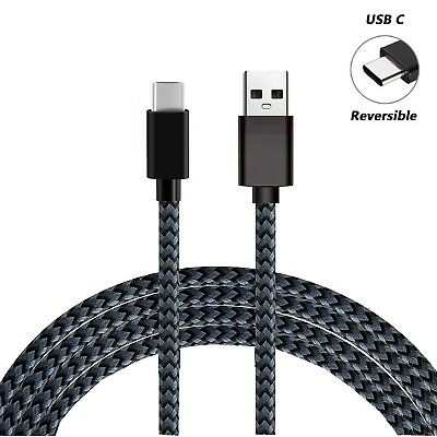 For Samsung S8 S9+ Note9 A5 Type C Data Sync Charger Charging Cable Braided USB 5