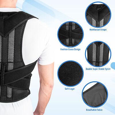 Back Posture Correction Shoulder Corrector Support Brace Belt Therapy Men Women 6