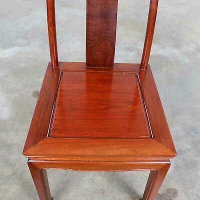Asian Teak Hand Carved Side Chair in the Style of George Zee 8