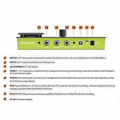 MOOER GE150 Amp Modelling & Multi Effects Pedal 55 Amplifier Models New release 7