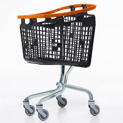 Orange Shopping Trolley Small Supermarket Cart Araven Loop Trolley 100L 2
