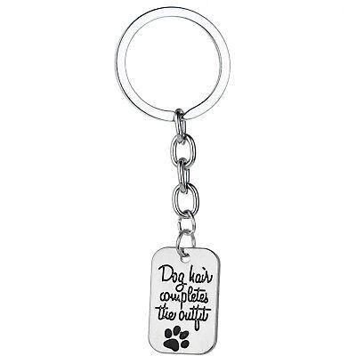 Pet Memorial Key Chain Dog Cat Print Love Heart Keychain Jewelry Charm Gifts 4