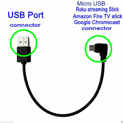 NEW POWER CORD USB Cable for Roku Streaming Stick Amazon Firestick --US  Seller