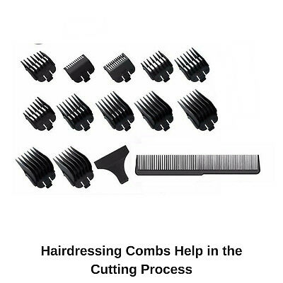 Wahl Cordless Rechargeable Professional Hair Clipper Shaver Trimmer Grooming Set 9