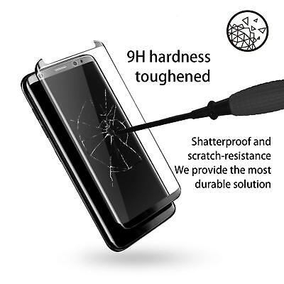 100% Genuine tempered glass screen protector for Samsung Galaxy S9 - Black 6