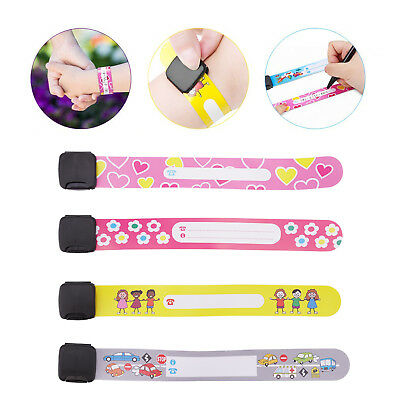 Emergency Bracelet For Kids 8 Piece Safety Waterproof ID Name Wrist Band Tool