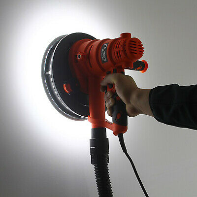 Trockenbauschleifer Tellerschleifer Wandschleifer 180mm 800W LED Beleuchtung M90202