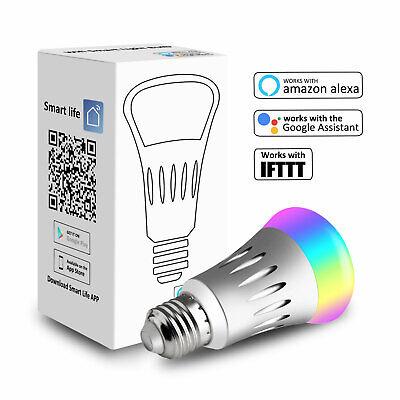 5 Pack WiFi Smart Light Bulb Bulbs Dimmable LED E27 W/ Google Home /Alexa/IFTTT 7