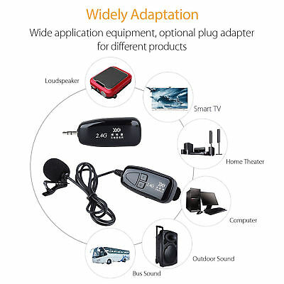 PRO 2.4G Wireless Microphone Lapel-on Voice Amplifier MIC Receiver & Transmitter 5