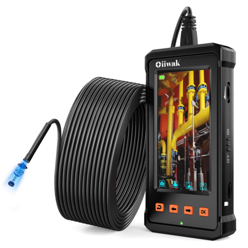 50FT Industrial Endoscope, Oiiwak Inspection Camera for Industrial Pipe Sewer HD 9