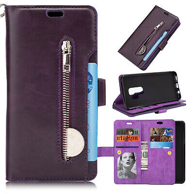 For Samsung Galaxy Note10 Plus S10+ S9 S8 S7 Flip Card Wallet Leather Case Cover 9