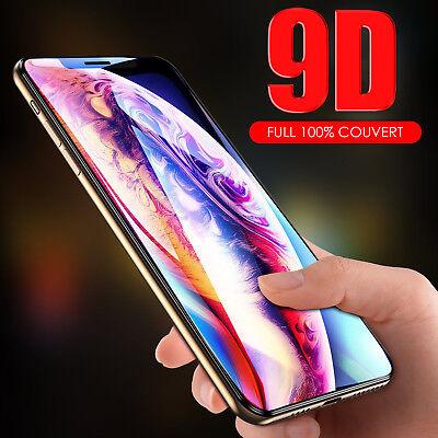 9D Vitre Verre Trempé Film protection protecteur écran iPhone XS XR X XS Max 2