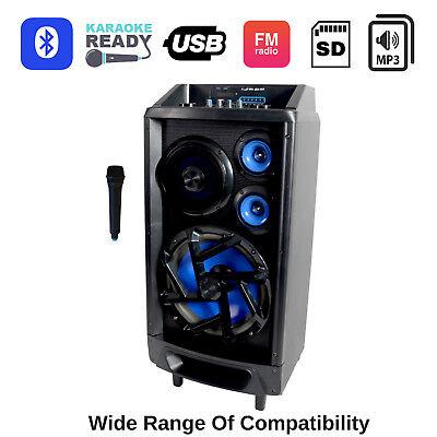 Portable Karaoke Machine Home Audio Bluetooth Speaker System Wireless Microphone 9