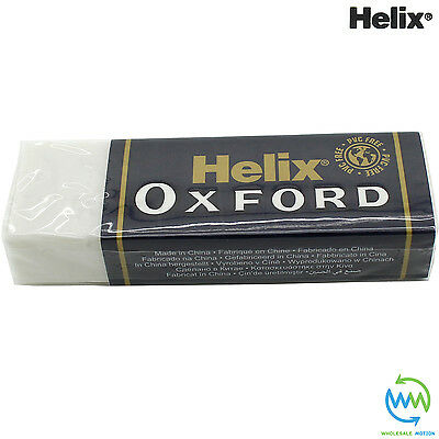 HELIX OXFORD Erasers LARGE Sleeve RUBBER Pencil School Drawing STATIONERY Eraser 6