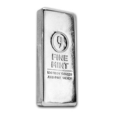 100 oz Silver Bar - 9Fine Mint - SKU# 156275 2
