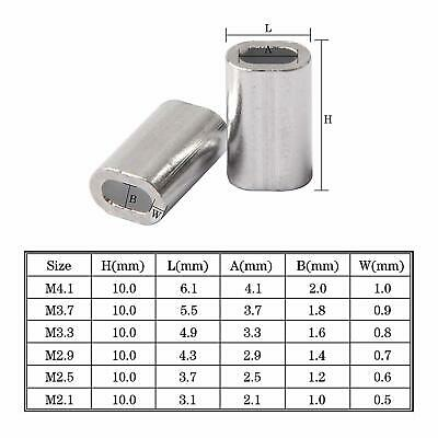 Aluminum Single Barrel Crimp Sleeves Fishing Line Tube Connector for Leader Rigs 2