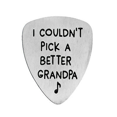 Stainless Steel Engraved Guitar Pick Plectrum GUITARIST BIRTHDAY GIFT Family 4