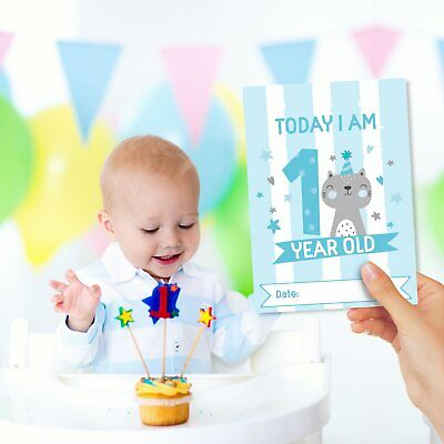 Baby Milestone Cards ~ 1st Year Memorable Moments Boy Age 6