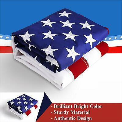 3'x5' ft, American USA US Flag | EMBROIDERED Stars, Sewn Stripes, Brass Grommets 7