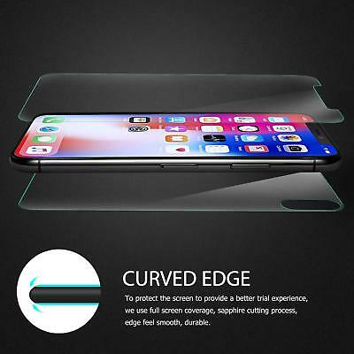 For Apple iPhone XS Max XR X Front and Back 9H Tempered Glass Screen Protector