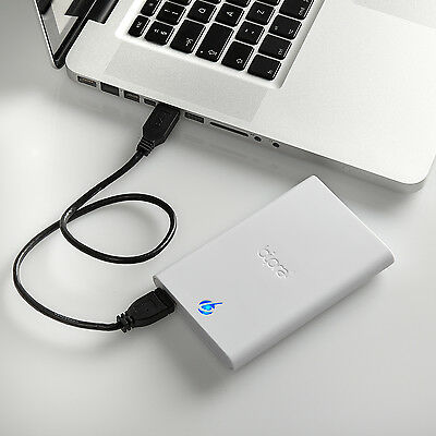 Bipra S3 160GB 2.5 inch USB 3.0 Mac Edition External Hard Drive - White