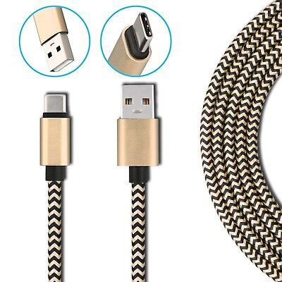 Heavyduty Braided Fast Charge USB C Type C Data Phone Charger Cable kabel 2m 3m 2