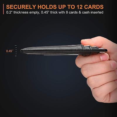 Buffway Slim mini ID holder card case front pocket Leather Wallet for Men Women 4