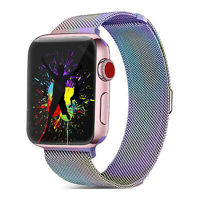For iWatch Apple Watch Series 3/2/1 Watch Metal Band Strap Adjustable 38mm/42mm 8