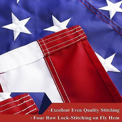 G128 – American Flag US USA | 3'x5' ft | EMBROIDERED Stars, Sewn Stripes 3