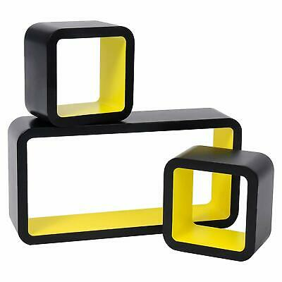 Floating Wall Mount Shelf Cube Storage Display Shelves Set Of 3 Modern Design 3