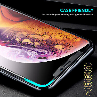 2X iPhone X XS Max XR 8 7 6 6S Plus 9H Tempered Glass Screen Protector For Apple 4