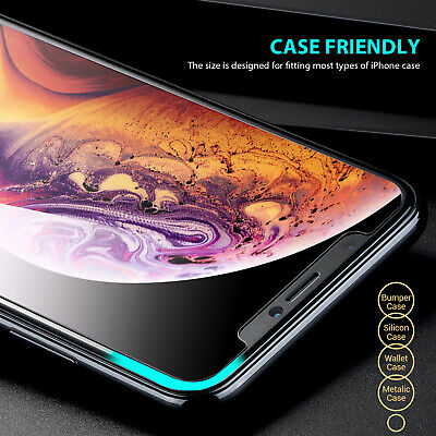 iPhone 11 Pro XS Max X XR 8 7 6 S Plus Tempered Glass Screen Protector for Apple 4