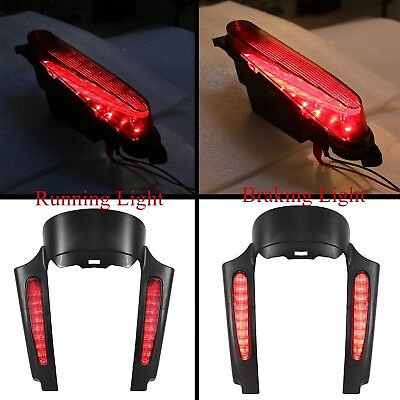 CVO Style Rear Fender Extention Fascia With LED Light For 09-18 Harley Touring