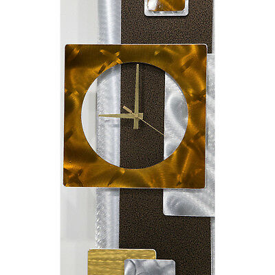 GEOMETRIC PENDULUM CLOCK - Modern Metal Wall Art DESIGNER Decor by Jon Allen 4