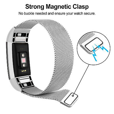 For Fitbit Charge 2 Band Metal Stainless Steel Milanese Strap Bracelet Wristband 7