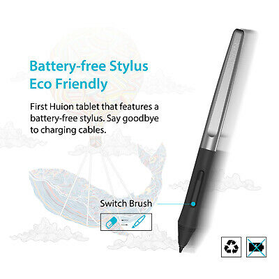"""Huion H950P Graphics Drawing Tablet Battery-free Pen 8192 Pressure 8.7""""x5.4"""" 3"""