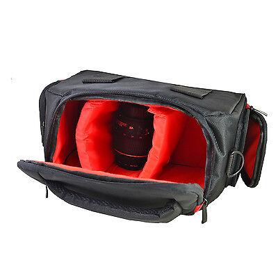 Large DSLR Camera Bag Case For Canon Eos 80D 100D 750D 700D 1200D 1300D (Black) 5