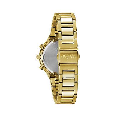 Caravelle New York Women's 44L218 Quartz Crystal Melon Dial Gold-Tone 36mm Watch 3