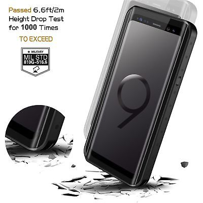 For Samsung Galaxy S9 Plus Case Waterproof Shockproof Fre with Screen Protector 4