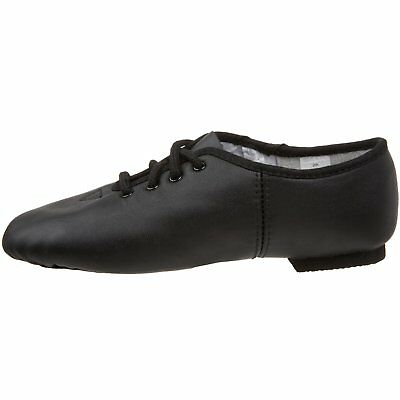 JAZZ DANCE SHOES Black unisex Leather split suede sole pumps irish hard jig (CC) 7