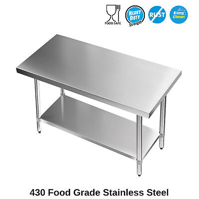 430 Stainless Steel Bench Table Commercial Home Kitchen Work Food Grade Shelf 3