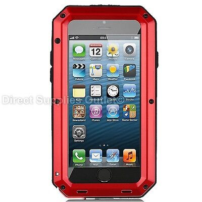 Waterproof Shockproof Metal Aluminum Gorilla Case For iPhone 6 7 8 X XR 5SE PLUS