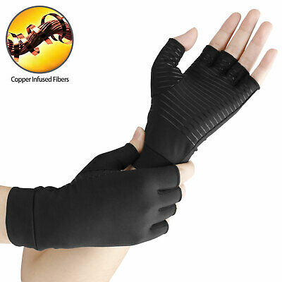 Copper Compression Gloves Arthritis Fit Carpal Tunnel Hand Wrist Brace Support 3